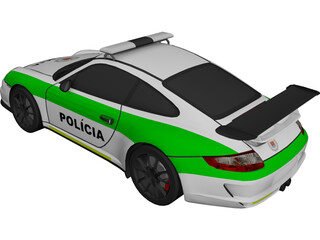 Porsche 911 Carrera GT3 RS Police 3D Model