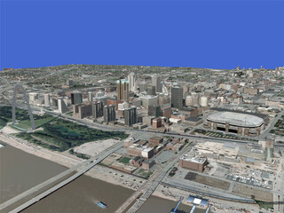 St. Louis City 3D Model