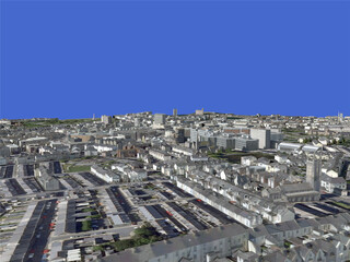 Plymouth City (UK) 3D Model