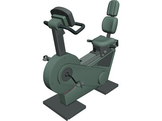 Exercise Bike Recline XT 3D Model