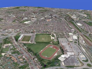 Swindon City (UK) 3D Model