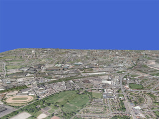 Wolverhampton City (UK) 3D Model