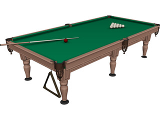 Billiard Table Rio 3D Model