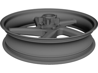 Wheel Motorcycle 5 Spoke Front 3D Model 3D Preview