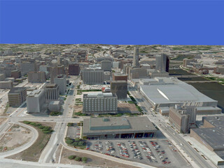 Grand Rapids City (USA) 3D Model