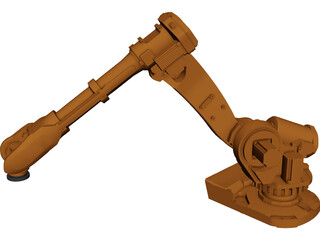 Robot 6 Axis CAD 3D Model
