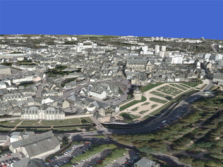 Vannes City (France) 3D Model
