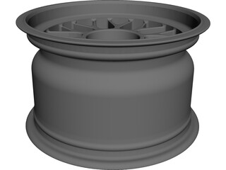 BBS Centerlock Wheel 13in x 8in CAD 3D Model