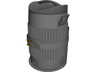 Igloo Water Cooler CAD 3D Model