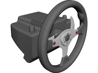 Logitech G25 Steering Wheel CAD 3D Model