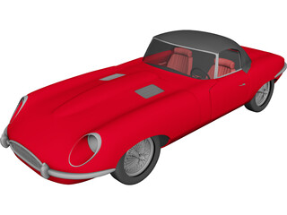 Jaguar E-type 3D Model