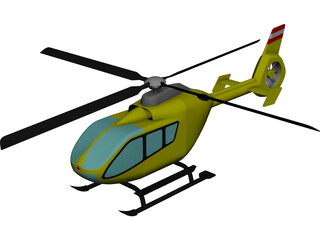 Eurocopter EC-135 CAD 3D Model
