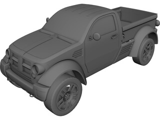 Dodge M80 Light Truck Concept (2003) CAD 3D Model