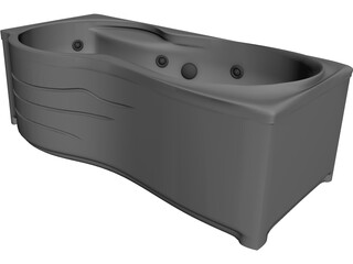 Jacuzzi Bathtub 3D Model