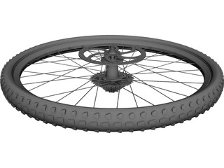 Wheel MTB Rear CAD 3D Model