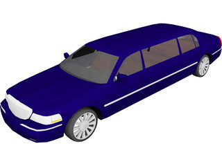 Lincoln Town Limousine (2003) 3D Model