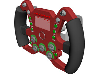 Racing Steering Wheel 3D Model