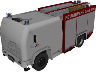 German Firefighter Truck 3D Model