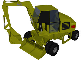 Backhoe 3D Model