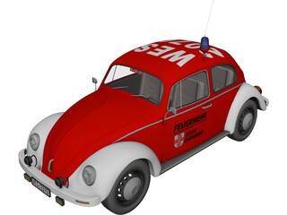 Volkswagen Beetle German Fire 3D Model