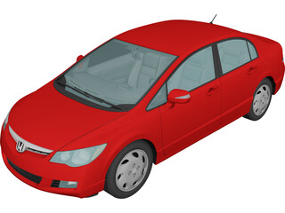 Honda Civic Hybrid (2008) 3D Model