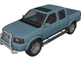 Nissan Navara D22 Turbo Pickup 3D Model