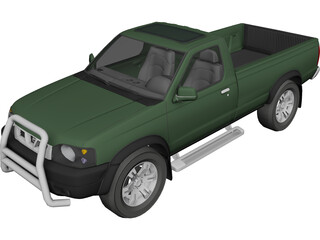 Nissan Navara D22 DX 4X4 3D Model