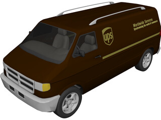 Dodge Ram Van (UPS) 3D Model