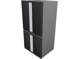 Refrigerator Sharp SJ F77PCS 3D Model