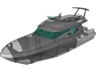 Janneau Motorboat P46 3D Model