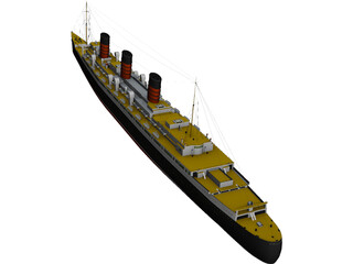 RMS Queen Mary 3D Model