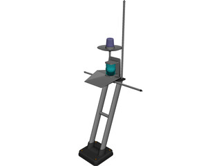 Boats Antenna CAD 3D Model