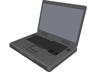 Dell M90 15 inch Laptop Computer CAD 3D Model