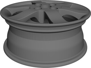 Car Wheel CAD 3D Model