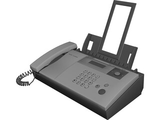 Sharp UX-BS60H Phone Fax Machine 3D Model