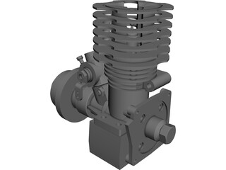 RC Motor Assembly CAD 3D Model