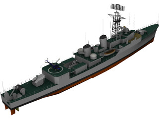 Ashanti Frigate 1962 3D Model 3D Preview