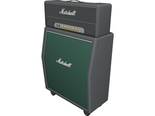 Marshall  Guitar Amp 3D Model