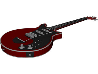 Brian May Red Special Guitar 3D Model