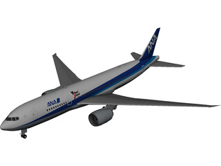 Boeing 777-200 Ana 3D Model 3D Preview