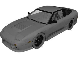Nissan 200sx S13 Drift Spec 3D Model
