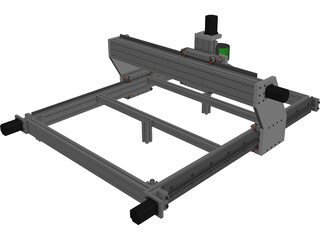 CNC Machine 3D Model 3D Preview