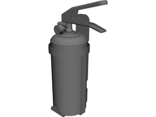 Fire Extinguiser CAD 3D Model