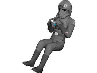 Air Force Pilot 3D Model 3D Preview