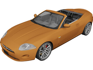 Jaguar XKR Convertible (2007) 3D Model