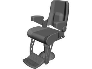 Helm Chair CAD 3D Model