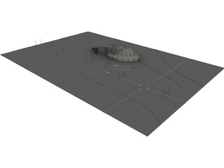 Exhibition Building 3D Model