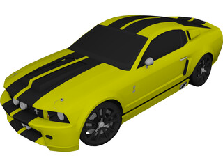 Ford Mustang GT500 Eleanor (2008) 3D Model