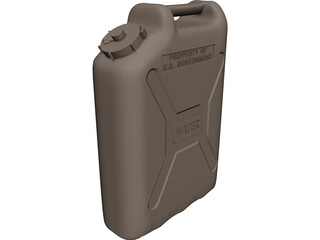 Military Watercan 3D Model