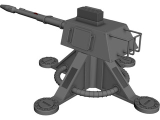 105mm Turret 3D Model